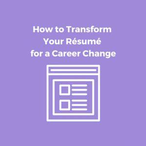 Career Change Resume Service ResumeWriterscom